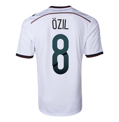 trikot deutschland fussball 2014 15 world cup home ozil 8. Black Bedroom Furniture Sets. Home Design Ideas