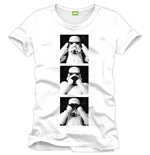 T-Shirt Star Wars - Trooper Squares - weiss