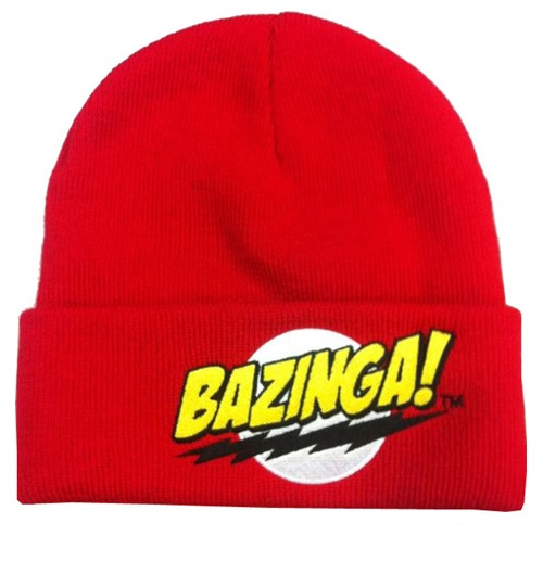 kaufe beanie the big bang theory bazinga. Black Bedroom Furniture Sets. Home Design Ideas