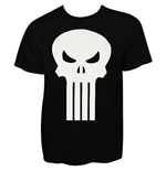 Punisher - Plain Jane White Skull T-Shirt