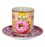 Simpsons Tasse mit Untertasse - Can´t Talk Eating