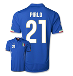 Trikot Italien Fussball 2014-15 World Cup Home (Pirlo 21)