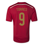 Trikot Spanien Fussball 2014-15 Home World Cup (Torres 9) für Kinder