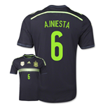 Trikot Spanien Fussball 2014-15 Away World Cup (A.Iniesta 6) für Kinder