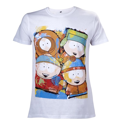 T-Shirt South Park  - gemalte Charaktere