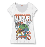 Marvel Comics Ladies T-Shirt Heroes Group
