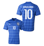 Trikot Brasilien Fussball 2014-15 World Cup Away (Ronaldinho 10)