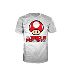 T-Shirt NINTENDO SUPER MARIO BROS. Red Mushroom I Need A Power Up Extra Large