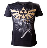 T-Shirt The Legend of Zelda Gold Link Logo Large