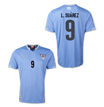 Trikot Uruguay Fussball 2014-15 World Cup Home (L.Suárez 9)