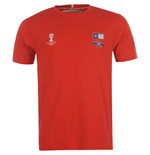 T-Shirt Chile Fussball 2014 FIFA Core