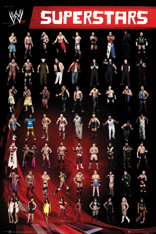 Poster WWE  Superstars