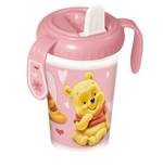 Winnie Baby rosa Trinkflasche mit Backercard (380 ml) 8x11x16 cm