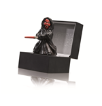"Darth Maul ""The force shall free me."" Keramikfigur 10,5 cm  in edler Displaybox aus Leder 13,5x13,5x9 cm"