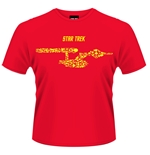 T-Shirt Star Trek  Ships Of The Line (in rot)
