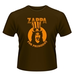 Shirts Frank Zappa - Zappa for President in braun