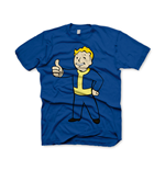 T-Shirt Fallout  Vault Boys Thumbs Up Extra Large in blau