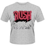 T-Shirt Rush  Gildan 64000 in grau