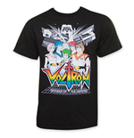 T-Shirt Voltron Defenders Of The Universe Pilots