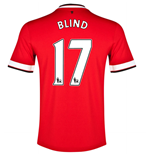 Trikot 2014-2015 Manchester United Home (Blind 17) - für Kinder