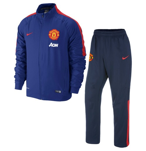 trainingsanzug manchester united 2014 2015 nike woven f r. Black Bedroom Furniture Sets. Home Design Ideas