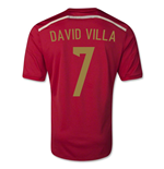 Trikot Spanien 2014-15 World Cup Home (David Villa 7) - für Kinder
