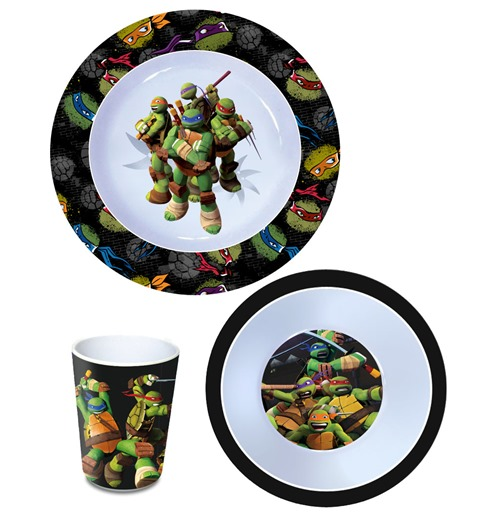 Teenage Mutant Ninja Turtles Frühstücks-Set Melamin