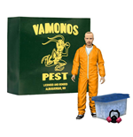 Breaking Bad Deluxe Actionfigur Jesse Pinkman in Orange Hazmat Suit heo Exclusive 15 cm