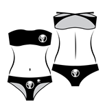 Women's Bikini with Texture Logo - God Of Die