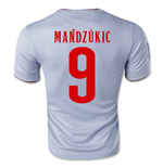Trikot Atletico Madrid 2014-15 Away (Mandzukic 9) für Kinder
