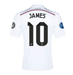 Trikot Real Madrid 2014-15 UCL Home (James 10) für Kinder