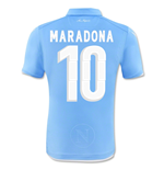 Trikot Neapel 2014-15 Authentic Home (Maradona 10) für Kinder