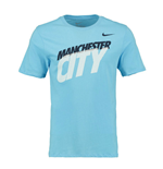 T-Shirt Manchester City FC 2014-2015 Nike Core Type (Blau)