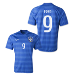 Trikot Brasilien Fussball Away 2014/15 (Fred 9)
