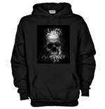 Hoodie with flex printing - Black Radiance