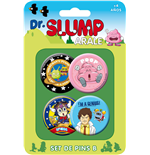 Dr. Slump Ansteck-Buttons 4er-Pack Set B