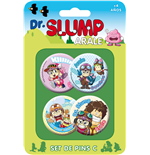 Dr. Slump Ansteck-Buttons 4er-Pack Set C