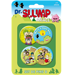 Dr. Slump Ansteck-Buttons 4er-Pack Set D