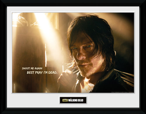 Poster The Walking Dead Daryl Light mit Rahmen