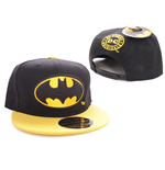 Batman Baseball Cap Black Bat Logo Black