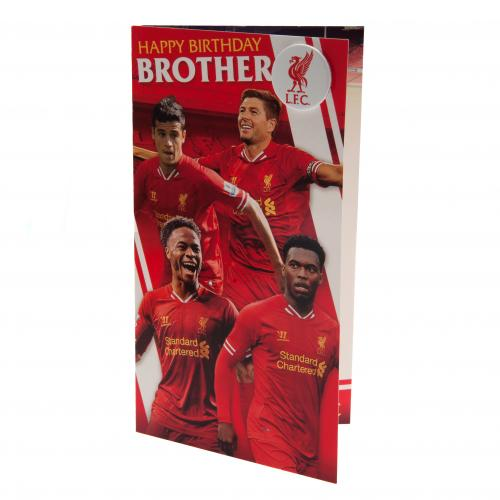 Grußkarte Liverpool FC Birthday Card Brother