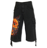 Shorts Fire Dragon - Vintage Cargo Shorts 3/4 Long in schwarz