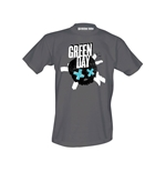 T-Shirt Green Day Crossed Skull