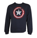 Sweatshirt Captain America Distressed Shield