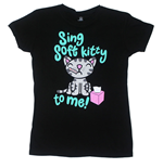 T-Shirt Big Bang Theory Sing Soft Kitty To Me