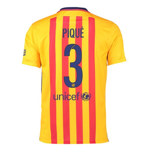 Trikot Barcelona 2015-2016 Away (Pique 3) für Kinder
