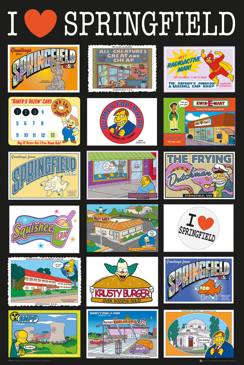 Poster Die Simpsons Postcards