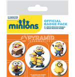 Minions Ansteck-Buttons 5er-Pack