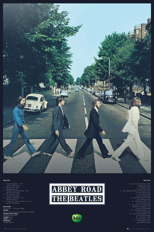 Poster Beatles Abbey Road Tracks