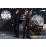Dark Knight Rises Movie Masterpiece Actionfiguren 1/6 John Blake & Jim Gordon with Bat-Signal 30 cm